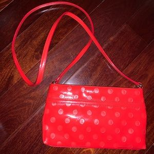 Kate Spade Red PolkaDot Cross Shoulder Bag